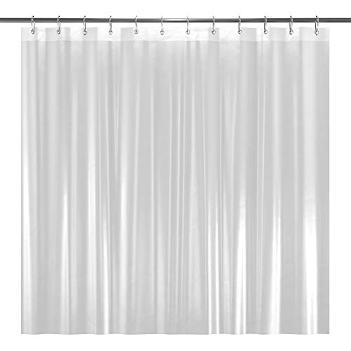 "LiBa PEVA 8G Bathroom Shower Curtain Liner, 72"" W x 72"" H, Frosted, 8G Heavy Duty Waterproof Shower Curtain Liner Anti-Microbial Mildew Resistant"