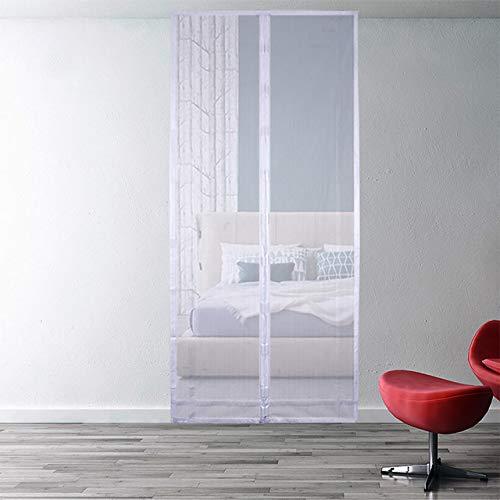 Familienpraktischer magnetischer Saugschutz-Fliegenschutz-Moskitovorhang Softframe-Sieb-Maschensieb schließen automatisch den Türschirm schwarz und weiß Y1 B 80 x H 210 cm