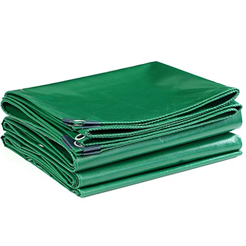 YALAY Bâche Bâches étanche Multi-usages épais Tente Bateau Camping Cover Bâche Bâche extérieure (Color : Green, Size : 13.2x19.8ft/4x6m)