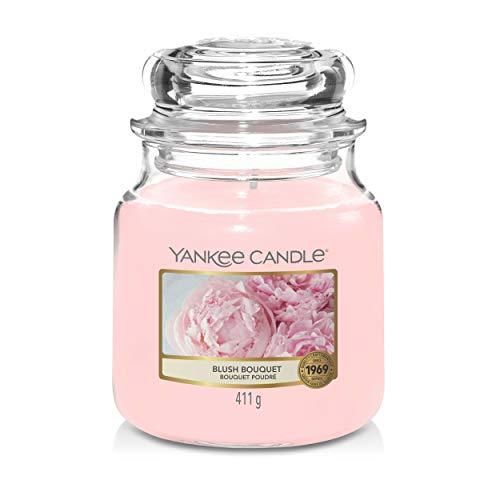 Yankee Candle Blush Bouquet - Vela en tarro de cristal, color rosa, 411 g