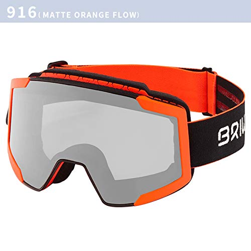 Briko Lava FIS 7.6 Foto, Goggles Unisex Adult, 916BLACK ORANGE-PHG13, ONE