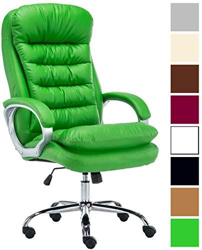XXL Bürostuhl Vancouver Mit Kunstlederbezug I Drehstuhl Mit max. 235 KG Belastbarkeit I Chefsessel Mit Laufrollen, Farbe:grün