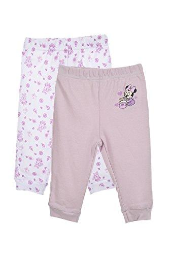 Set de 2 leggings en coton bébé fille, Violet, 9 mois