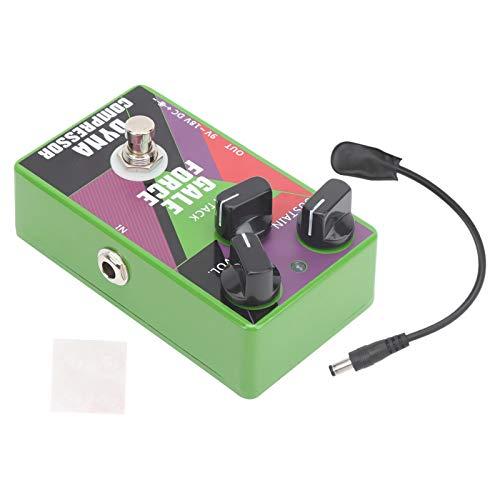 Pedal de compresor, pedal de efecto de compresión, carcasa de aleación de aluminio para club de música para amantes de la música, guitarrista para actuaciones al aire libre