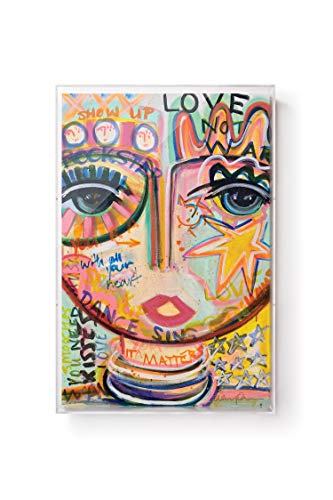 Wexel Art Voices Carry Chica Print with Graffiti by Windy O