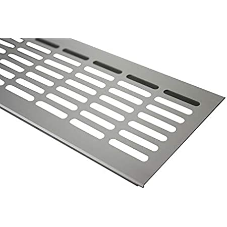 Alu SECOTEC L/üftungsgitter 60 x 400 mm Oberfl/äche: natur eloxiert 1 St/ück
