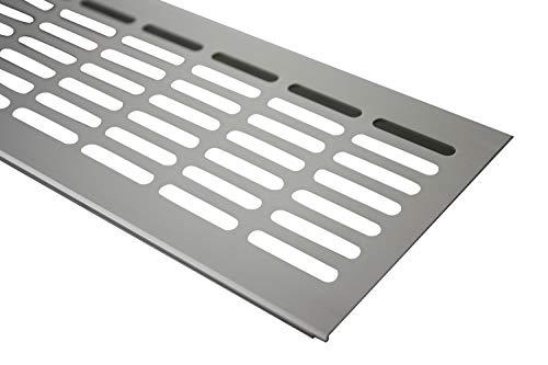 Aluminium Lüftungsgitter Stegblech Lüftungssieb Edelstahl eloxiert 100x800mm