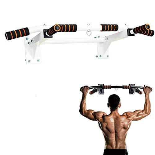 Jszzz 200 kg / 440Lb Wand befestigte horizontale Balken, mit Weit Anti-Rutsch-Pad, Hauptgymnastik-Training Chin Up Pull Up Trainings Bar Sport Fitnessgeräte, Weiss (Color : White)