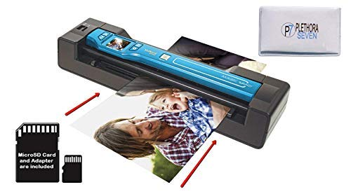 Vupoint ST470 Magic Wand Portable Scanner w/Auto-Feed Docking Station (Turquoise) (Renewed)
