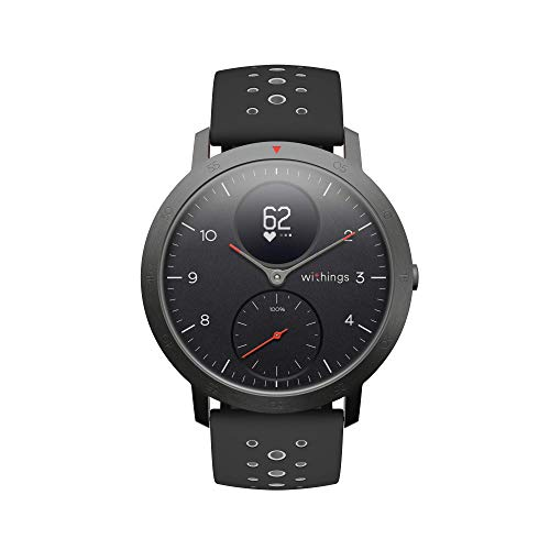 Withings Steel HR Sport Reloj Inteligente Híbrido, Unisex Adulto, Negro, 40 mm