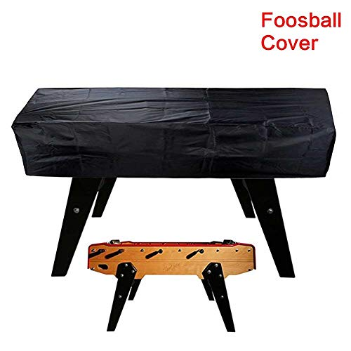 Funda para mesa de fútbol de 420D Oxford impermeable para futbolín, para exteriores, fútbol, billar, protección contra el polvo, para 163 x 115 x 48 cm, No nulo, negro, Tamaño libre