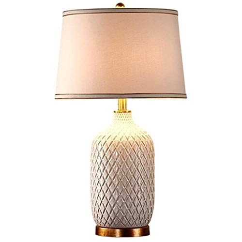 UNU_YAN Moderne Einfachheit Lampen Schlafzimmer Keramik Tischlampe, Ananas Nachttischlampe, warmes Licht Augenlampe, Geeignet for Wohnzimmer, Schlafzimmer, Studienraum