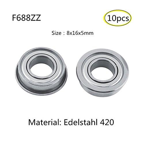 F688 Flange bearing Rodamientos de brida Acero inoxidable 440 Cojinetes en miniatura...