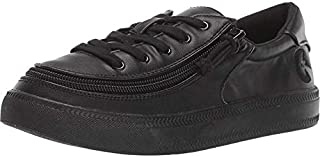 BILLY Footwear Kids Unisex Classic Lace Low (Toddler/Little Kid/Big Kid) Black to The Floor Pu 2 M US Little Kid
