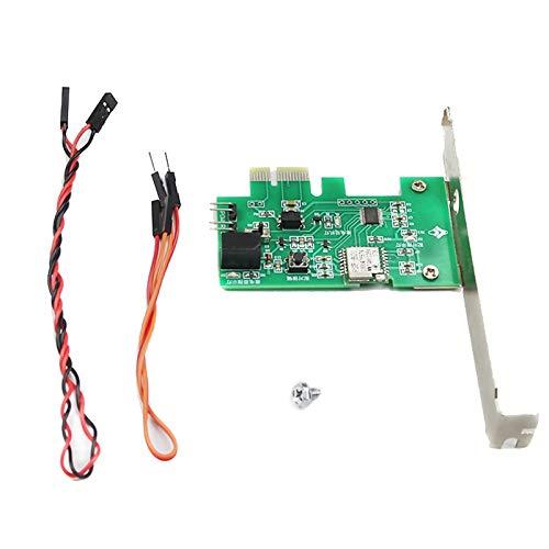 Heritan Module de relais WiFi PCI-E pour PC de bureau avec télécommande vocale - Activer/désactiver la carte de démarrage - Fonctionne avec Alexa Home IFTTT