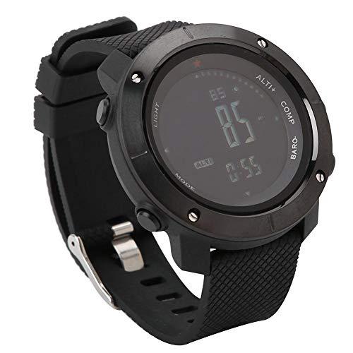 Reloj de Pulsera de Supervivencia Multifuncional al Aire Libre Impermeable Barómetro Brújula Reloj para Senderismo Camping Actividades al Aire Libre