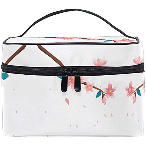 Trousse de maquillage Peach Blossom Floral Travel Cosmetic Bags Organizer Train Case Toiletry Make Up Pouch For Womens Girls