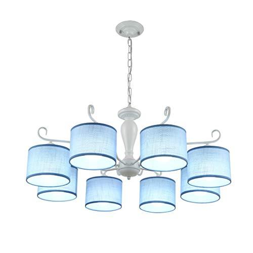DXX-HR Araña blanca de la lámpara - Americana de techo simple de luz ambiental LED/Living Dormitorio restaurante manera de la atmósfera de luz 6/8 (Tamaño: A)