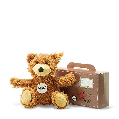 Steiff Joe Teddybär im Koffer - 20 cm - Kuscheltier für Kinder - Plüschteddy - weich & waschbar - goldbraun - (674440)