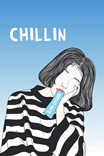 """Chillin: 6"""" x 9"""" 120-page Dot Grid Journal for Writing, Planning, Decorating, Doodling, Art"""