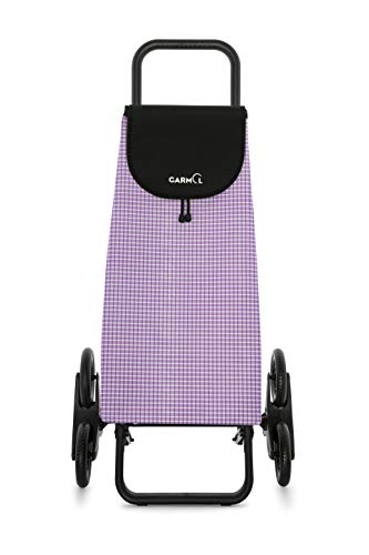 55L Garmol Carro Compra Violeta//Negro