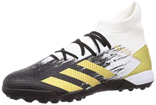 adidas Predator 20.3 TF, Scarpe da Calcio Uomo, Ftwr White/Gold Met./Core Black, 42 EU