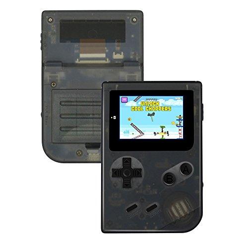 QUMOX Consola de juego portátil sistema Mini GBA retro 2ŽŽ HD Pantalla 613 Juegos clásicos (40 incorporados + 573 disponibles para descargar), Regalos de cumpleaños para niños, Transparente Negro