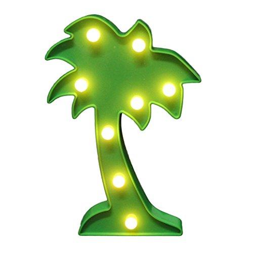 Bodhi2000 Lámpara de noche LED 3D con brillo para decoración del hogar, regalo de cumpleaños para niños (árbol de coco)