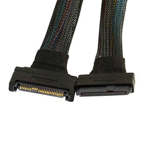 Cablecc U.2 U2 SFF-8639 NVME PCIe SSD-kabel Mannelijk tot Vrouwelijk Verlengstuk 50cm 68pin