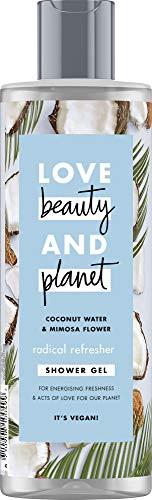 Love Beauty And Planet Radical Refresher Duschgel, für ausgepowerte Haut Coconut Water und Mimosa Flower ohne Parabene, 1 Stück (400 ml)