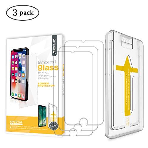 ZIFRIEND iPhone 6 Panzerglas/iPhone 6S Panzerglas [3 Stück] Kompatibel mit iPhone 6/6S, 9H Härte Panzerglasfolie, 2.5D Schutzfolie, 3D-Touch, Anti-Bläschen, Anti-Kratzer inklusive Installationszubehör