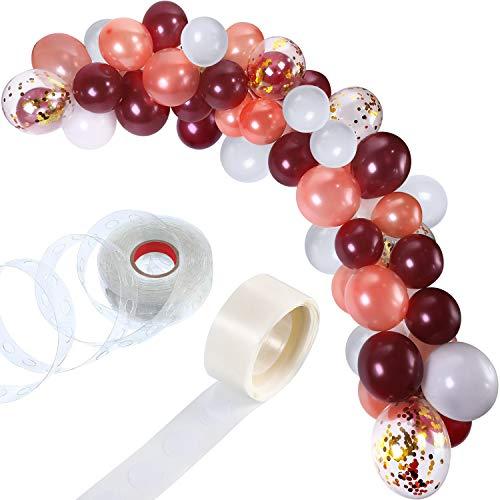 Tatuo 112 Pezzi Palloncino Ghirlanda Kit Palloncino Arco Ghirlanda per Nozze Compleanno Festa Decorazioni (Bianco Borgogna Oro Rosa)