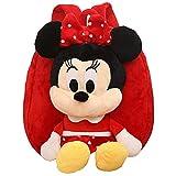 Babioms Mochila de Minnie ,Mochila Infantil Kindergarten,3D Suave Mochila de Felpa ,Toddler Kids Mochila Escolar para Niños Pequeños para 2-5 años