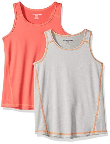 Pack de 2 camisetas deportivas sin mangas para niña