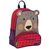 Children's Personalised Stephen Joseph Backpacks | Personalised Sidekick Backpacks for Kids | Kids Personalised Backpacks with Embroidered Name (Bear)