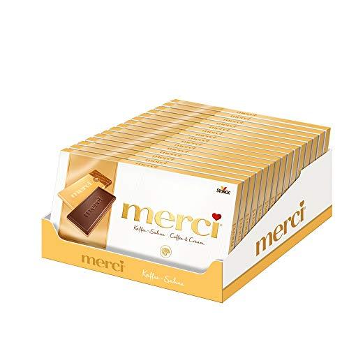 merci Tafelschokolade Kaffee-Sahne (15 x 100g) / 4 kleine, feine Täfelchen