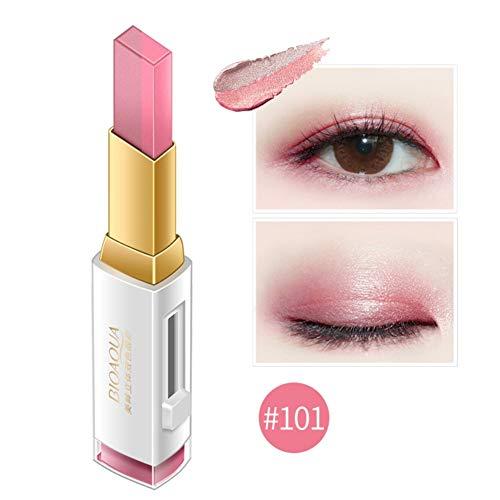 Gradient Eyeshadow Stick Bicolors One Glide Lazy Eyeshadow Makeup Wasserdicht (#101)