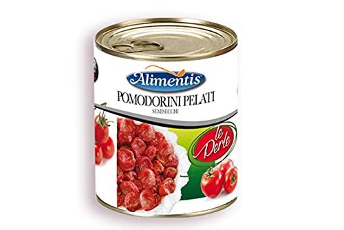 Conserva Italiana Alimentis Tomates enteros y pelados semisecos 'le perle'. Pack 12 X 770G.