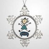 BYRON HOYLE Baumzweig Dekoration Trampolin Stick Figur Pfauenkarten Personalisiert Weihnachten Schnee Weihnachten Schneeflocke Ornamente Xmas Decor Hochzeit Ornament Urlaub Geschenk