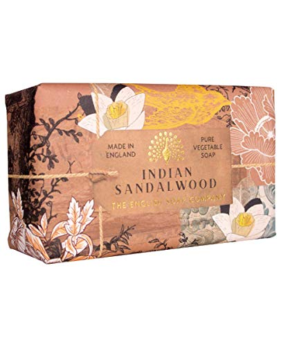 The English Soap Company, Indian Sandalwood Soap Bar, Anniversary Collection 200g