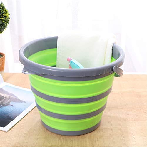 Cubo de plástico plegable, cubo de fregona portátil de cubo de agua...