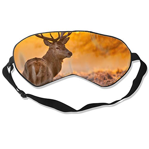Sunset Dear - Máscara para dormir con correa ajustable para la cabeza, cubierta suave y duradera para dormir toda la noche, viajes, trabajo por turnos, meditación, siesta