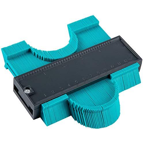Flushbay 120mm 型取りゲージ コンターゲージ 不規則 測定工具 輪郭ゲージ 木工 クラフト ツール プロファイルゲージ