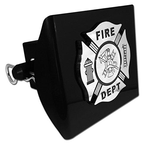 Elektroplate Firefighter Black Emblem Black Plastic Hitch Cover