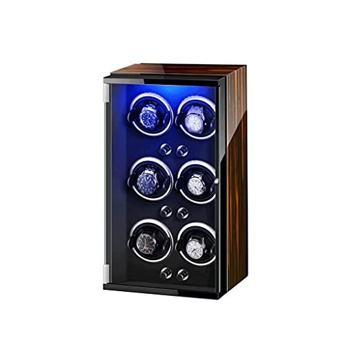 Reloj Winder LED de siete colores Silent Motor Pintura de piano de lujo se puede utilizar con relojes tanto para hombres como para mujeres