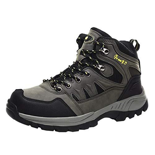 HDUFGJ rutschfeste Trekkingschuhe Wanderschuhe Herren Wasserdicht Outdoor Schuhe für Sport Hiking Trekking- & Wanderstiefel Plus Samt Warm Sneaker Wanderschuhe40 EU(Armee grün)