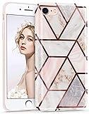 Imikoko Hülle für iPhone 7/iPhone 8 Glitter Bling Rosegold Handyhülle Schlank Schutzhülle Handytasche Case Handy Hülle