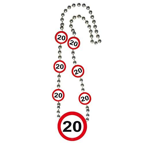 Folat B.V. Collar señal de tráfico 20 cumpleaños 70 cm