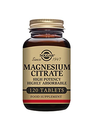 Solgar Magnesium Citrate Tablets - Supports the Nervous System - Energy Release - Reduces Tiredness and Fatigue - Vegan - Pack of 120 Tablets (Personal Care)