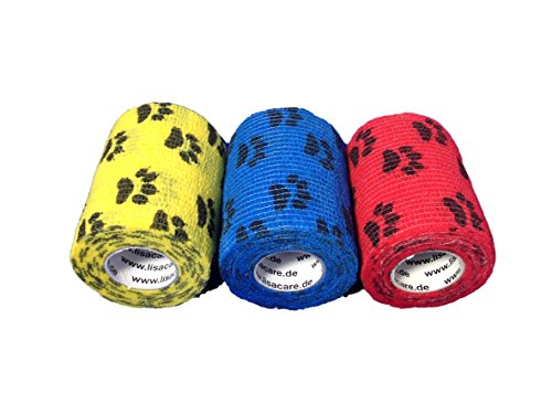 LisaCare® Pflasterverband, Fingerpflaster selbsthaftend - ohne Kleber & elastisch- Wundverband, Fixierverband, Pflaster - 7,5cm x 4,5m - 3er Set